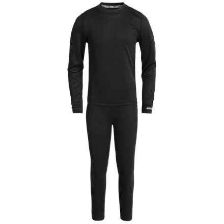 Terramar Power Play 1.0 Base Layer Set - UPF 25+ (For Little and Big Kids) in Black - Closeouts
