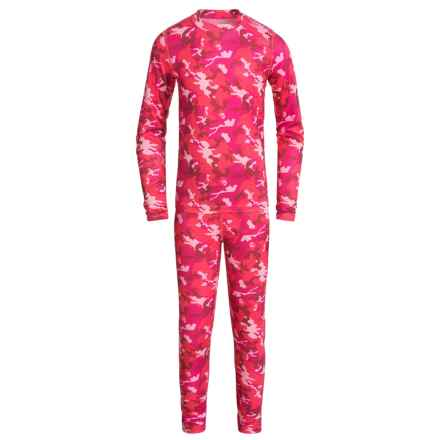 Terramar Power Play 1.0 Base Layer Set - UPF 25+ (For Little and Big Kids) in Poppy Camo - Closeouts