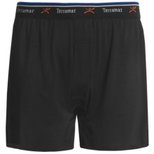 Terramar Pro-Jersey Boxers - Loose Fit (For Men) in Black - Closeouts