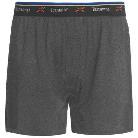 Terramar Pro-Jersey Boxers - Loose Fit (For Men) in Grey Heather - Closeouts
