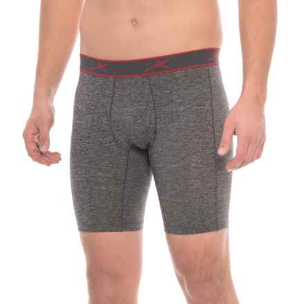 Terramar Reflex Boxer Briefs (For Men) in Black Heather - Closeouts