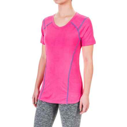 Terramar ReFlex® T-Shirt - UPF 25+, Scoop Neck, Short Sleeve (For Women) in Geranium - Closeouts