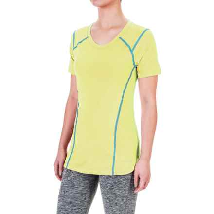 Terramar ReFlex® T-Shirt - UPF 25+, Scoop Neck, Short Sleeve (For Women) in Limelight - Closeouts
