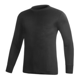 Terramar Silk Base Layer Top - Lightweight, Long Sleeve (For Men) in Black