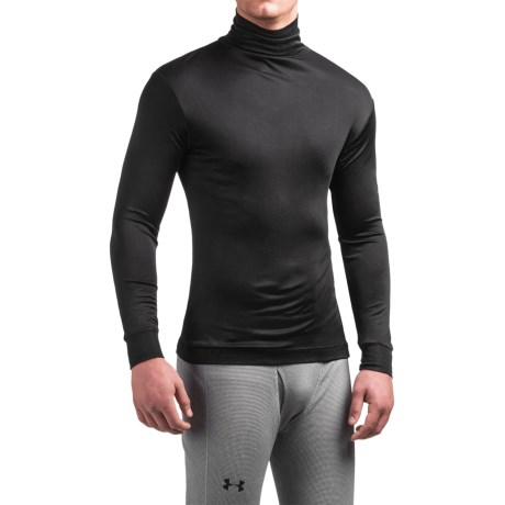 Terramar Silk Interlock Turtleneck - Long Sleeve (For Men) in Black