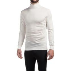 Terramar Silk Interlock Turtleneck - Long Sleeve (For Men) in White