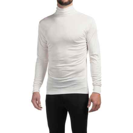 Terramar Silk Interlock Turtleneck - Long Sleeve (For Men) in White - 2nds