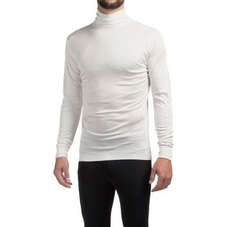 Terramar Silk Interlock Turtleneck - Long Sleeve (For Men) in White