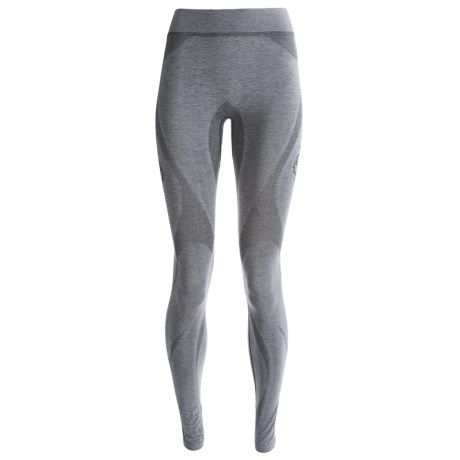 Terramar SmartSilk Base Layer Tights - Lightweight (For Women) in Heather Grey