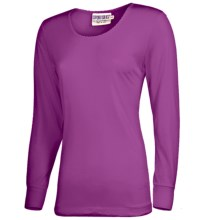 Terramar Sport Silk Long Underwear Top - Lightweight, Long Sleeve (For Women) in Jazzberry Pointelle - 2nds