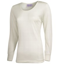 Terramar Sport Silk Long Underwear Top - Lightweight, Long Sleeve (For Women) in Natural Pointelle - 2nds