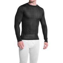 Terramar Sportsilks Base Layer Top - Crew Neck, Long Sleeve (For Men) in Black - Closeouts