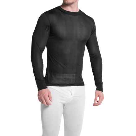 Terramar Sportsilks Base Layer Top - Crew Neck, Long Sleeve (For Men) in Black - Closeouts
