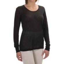 Terramar Sportsilks Scoop Neck Base Layer Top - Long Sleeve (For Women) in Black - Closeouts
