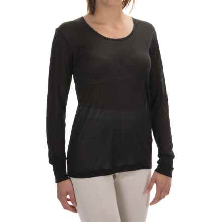 Terramar Sportsilks Scoop Neck Base Layer Top - Long Sleeve (For Women) in Black - Closeouts