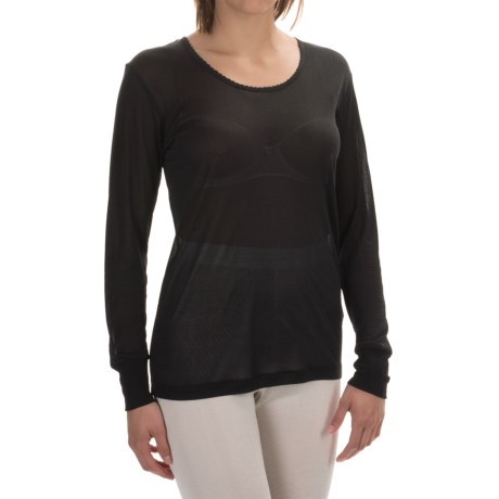 Terramar Sportsilks Scoop Neck Base Layer Top - Long Sleeve (For Women)