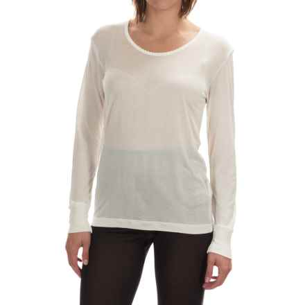 Terramar Sportsilks Scoop Neck Base Layer Top - Long Sleeve (For Women) in Natural - Closeouts