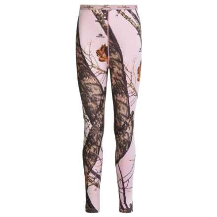 Terramar Stalker Base Layer Bottoms (For Little and Big Kids) in Pink Mossy Oak Breakup - Closeouts