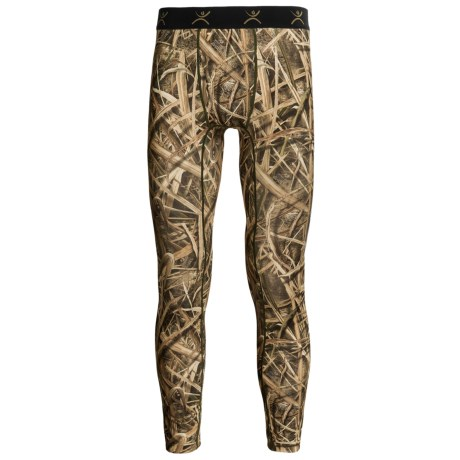 Terramar Stalker Camo Base Layer Bottoms - Midweight (For Men) in Mossy Oak Blade