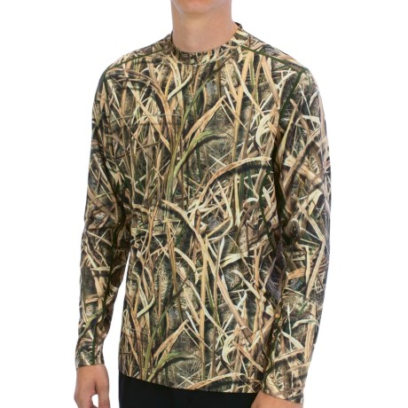 Terramar Stalker Camo Base Layer Top - Midweight, Long Sleeve (For Men) in Mossy Oak Blade