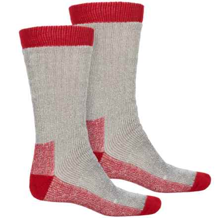 Terramar Stalker Thermal Boot Socks - 2-Pack, Over the Calf (For Men) in Light Grey Heather - Closeouts