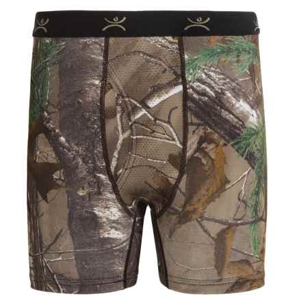 Terramar Stalker Thermolater II Boxer Briefs (For Boys) in Realtree Xtra - Closeouts