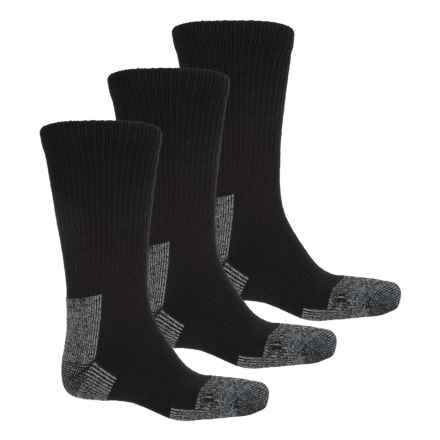 Terramar Steel Toe Work Boot Socks - Crew, 3-Pack (For Men) in Black - Closeouts