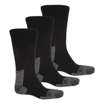 Terramar Steel Toe Work Boot Socks - Crew, 3-Pack (For Men) in Black - Closeouts