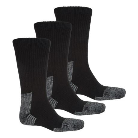 Terramar Steel Toe Work Boot Socks - Crew, 3-Pack (For Men) in Black