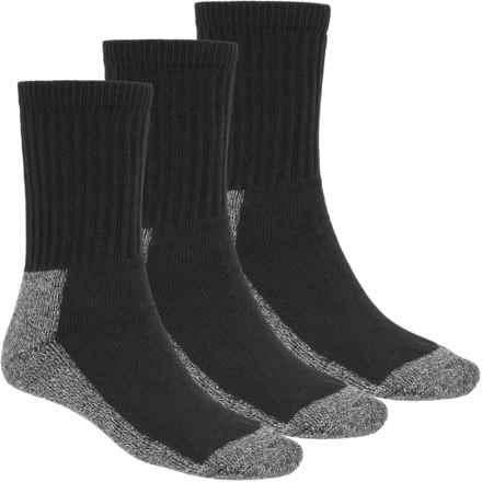 Terramar Steel Toe Work Socks - 3-Pack (For Men and Women) in Black - Closeouts