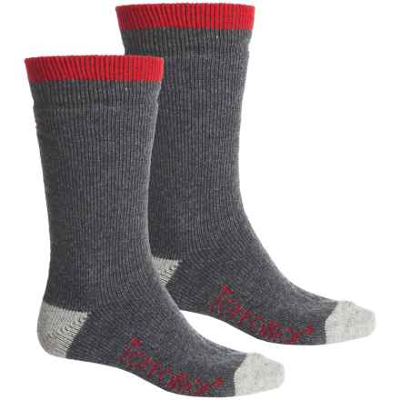 Terramar Sub-Zero Socks - 2-Pack, Mid Calf (For Men) in Dark Charcoal - Closeouts