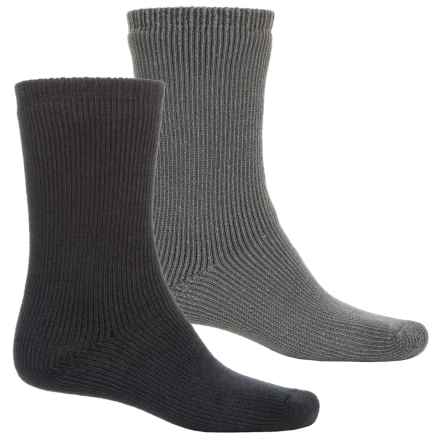 Terramar Terra Heat Thermal Work Outdoor Socks - Crew, 2-Pack (For Men) in Grey/Black - Closeouts