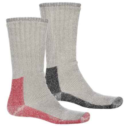 Terramar Thermal Work Outdoor Socks - Crew, 2-Pack (For Men) in Red/Black - Closeouts