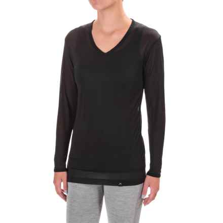 Terramar Thermasilk 1.0 Base Layer Top - V-Neck, Long Sleeve (For Women) in Black - Closeouts