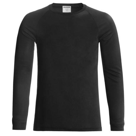Terramar Thermasilk Interlock 2.0 Base Layer Top - Lightweight, Silk, Crew Neck, Long Sleeve (For Men) in Black
