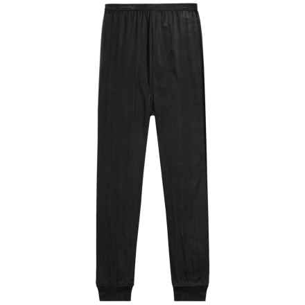 Terramar Thermasilk® Jersey Base Layer Pants - Silk (For Little and Big Kids) in Black - Closeouts