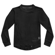 Terramar Thermasilk® Jersey Base Layer Top - Silk, Crew Neck, Long Sleeve (For Little and Big Kids) in Black - Closeouts