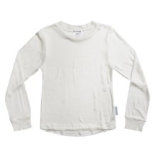 Terramar Thermasilk® Jersey Base Layer Top - Silk, Crew Neck, Long Sleeve (For Little and Big Kids) in Natural - Closeouts