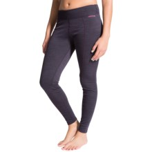 Terramar Thermawool Base Layer Bottoms - Midweight, UPF 50+ (For Women) in Purple Heather - Closeouts