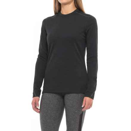 Terramar Thermawool Base Layer Crew Top - UPF 50, Merino Wool Blend, Long Sleeve (For Women) in Smoke Heather - Closeouts