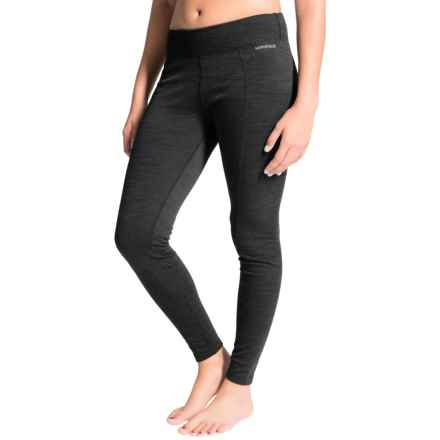 Terramar Thermawool Base Layer Pants - Midweight, UPF 50+ (For Women) in Black Heather - Closeouts