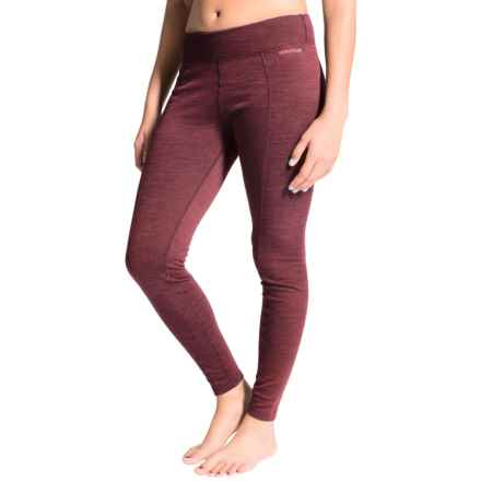 Terramar Thermawool Base Layer Pants - Midweight, UPF 50+ (For Women) in Poppy Heather - Closeouts