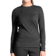 Terramar Thermawool Base Layer Top - UPF 50+, Midweight, Long Sleeve (For Women) in Black Heather - Closeouts