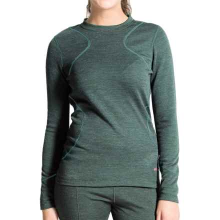 Terramar Thermawool Base Layer Top - UPF 50+, Midweight, Long Sleeve (For Women) in Jade Heather - Closeouts