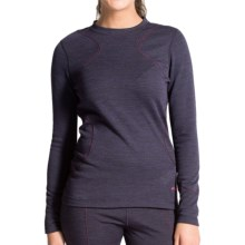 Terramar Thermawool Base Layer Top - UPF 50+, Midweight, Long Sleeve (For Women) in Purple Heather - Closeouts