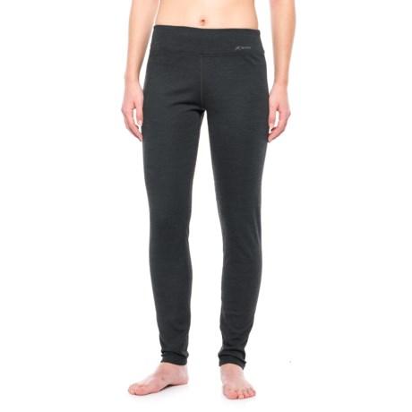Terramar Thermawool ClimaSense® 4.0 Base Layer Pants - UPF 50+ (For Women) in Smoke Heather