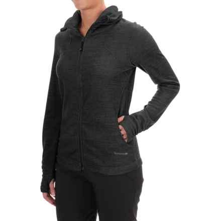 Terramar Thermawool Jacket -  UPF 50+, Merino Wool  (For Women) in Black Heather - Closeouts