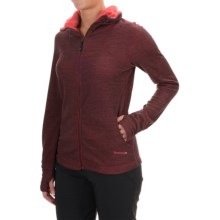 Terramar Thermawool Jacket -  UPF 50+, Merino Wool  (For Women) in Poppy Heather - Closeouts