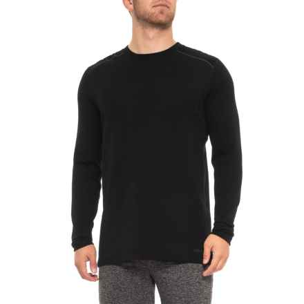 Terramar Thermawool Merino Wooskins Crew Neck Base Layer Top - Midweight, Long Sleeve (For Men) in Black - Closeouts