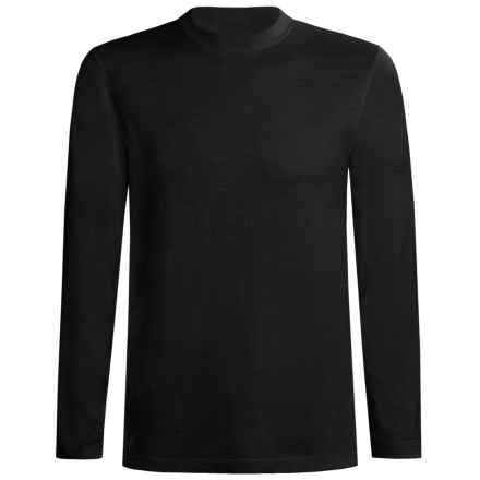 Terramar Thermawool Merino Wooskins Crew Neck Base Layer Top - Midweight, Long Sleeve (For Men) in Charcoal Heather - Closeouts